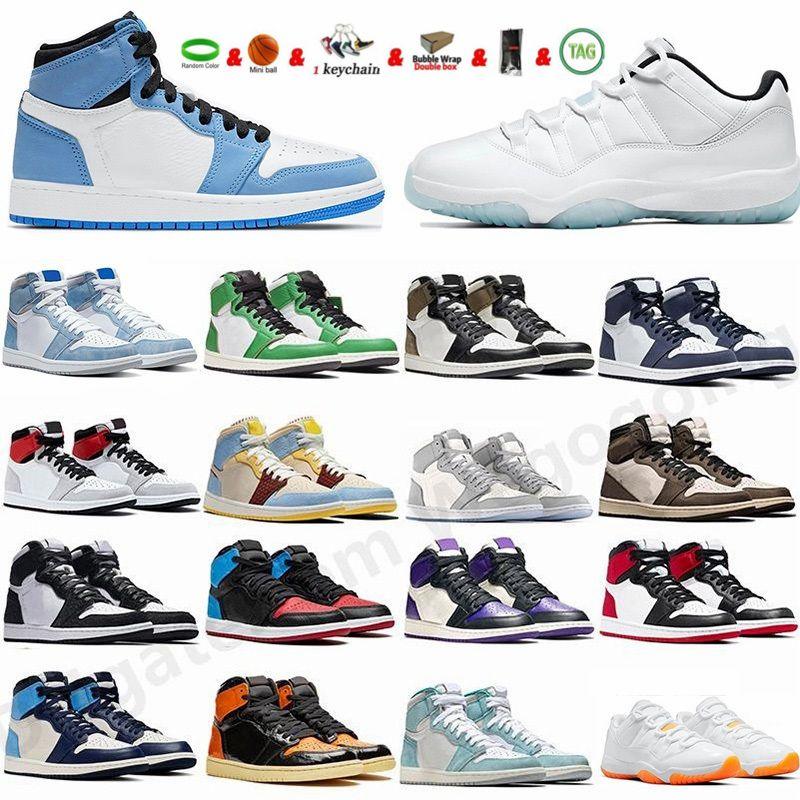 أحذية كرة السلة للرجال Jumpman 1 1s University Blue Silver Toe Dark Mocha Lucky Green Hyper Royal Court أرجواني عالي الجودة أحذية رياضية نسائية