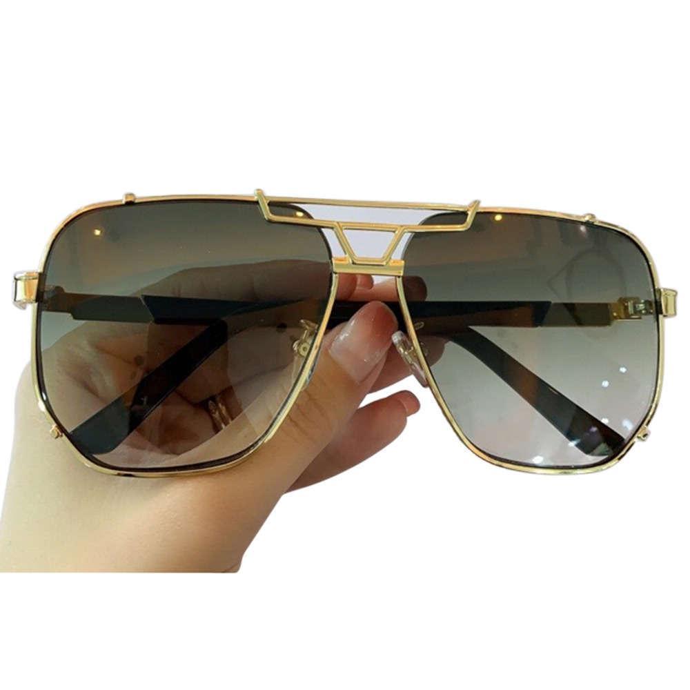 Oversized homens quadrados marca elegante moda óculos de sol feminino macho vintage ontyewear UV400 21s