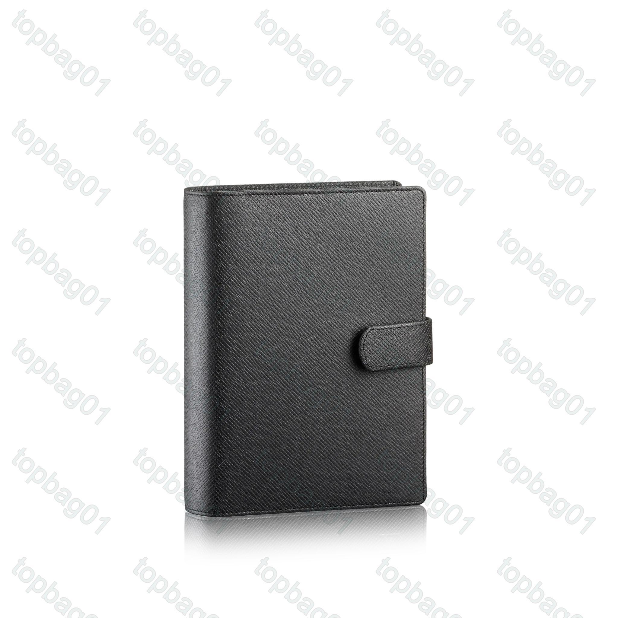 M2004 Orta Gündem Not Defteri Tutucu Kapak Beyaz Kağıt Dizüstü Ofis Seyahat Dergisi Günlüğü Jotter 6 Kredi Kartı Sahipleri Kutusu ile Yuvaları
