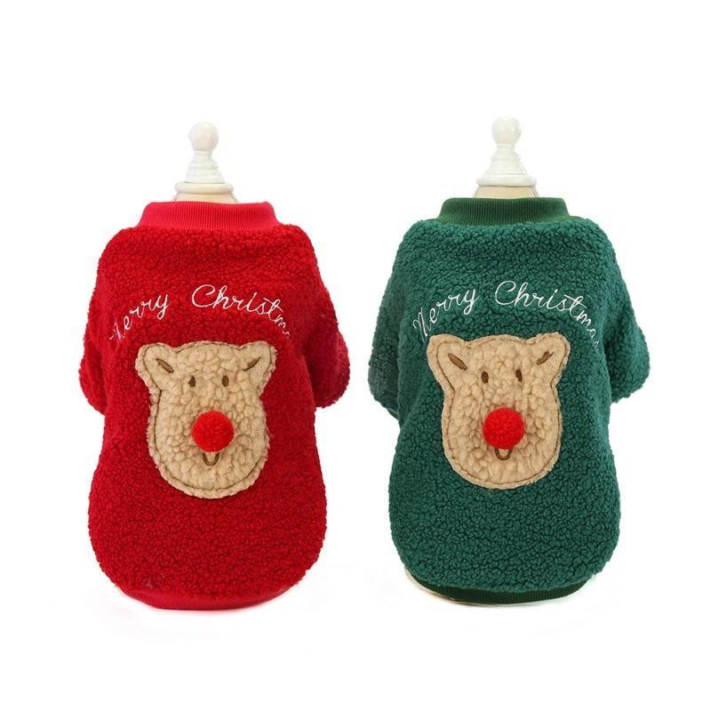 Hundebekleidung Weihnachtskleidung Winter Warme Pet Jacke Mantelfestival Nette Hoodies Kleidung für kleine mittelgroße Hunde Welpe Durable Outfit