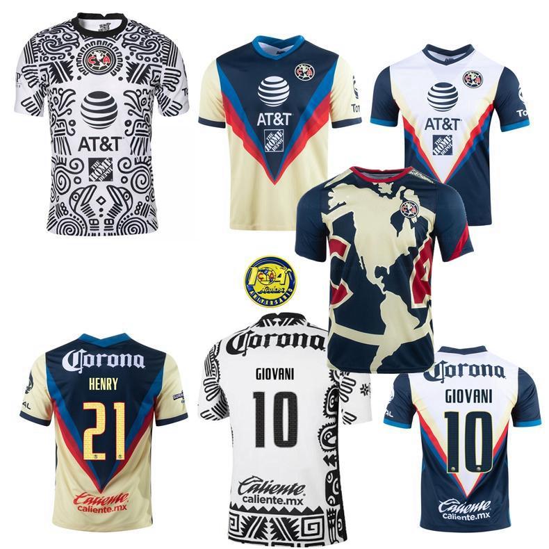 Liga MX Club América 2020 2021 2022 Club Futebol Jerseys R.Martínez Giovani Home 3rd 20 21 Homens de Futebol e Mulheres Camisa Crianças