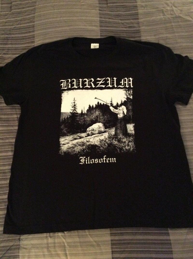 T-shirt da uomo 1 Laburzum Filosofem Camicia XL Darkthrone Mayhem Enslaved Goatmoon Inquisition Slim Slim Fit Lettera stampata Top TEE