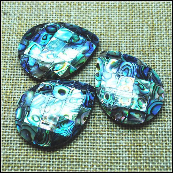 Pingentes Natural Abalone Shell Mãe de Pérola Handmade para Praia Vendendo tamanho 30x40mm encantos de jóias fazendo