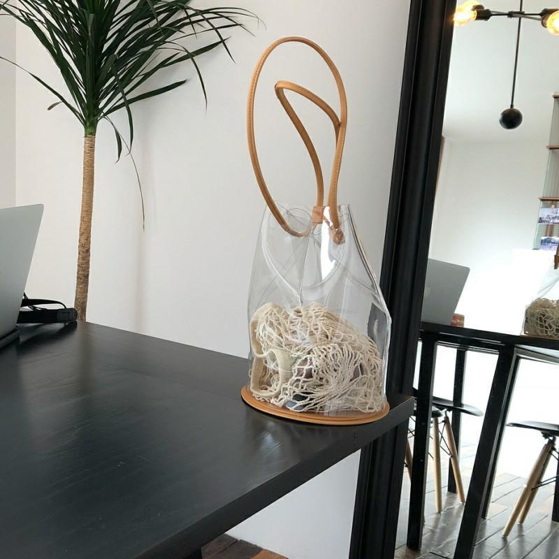 Сумки на ремне лето прозрачный PVC ведра для женщин сумочка Корейский стиль пляж SAC главная Femme