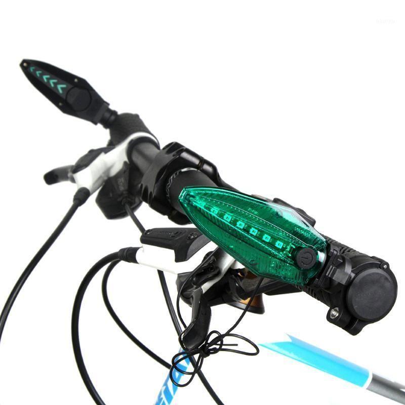 Luces de bicicleta 1 par de entramado de advertencia de bicicleta de advertencia de la barra de manillar de bicicleta con lámpara impermeable ligera LED1