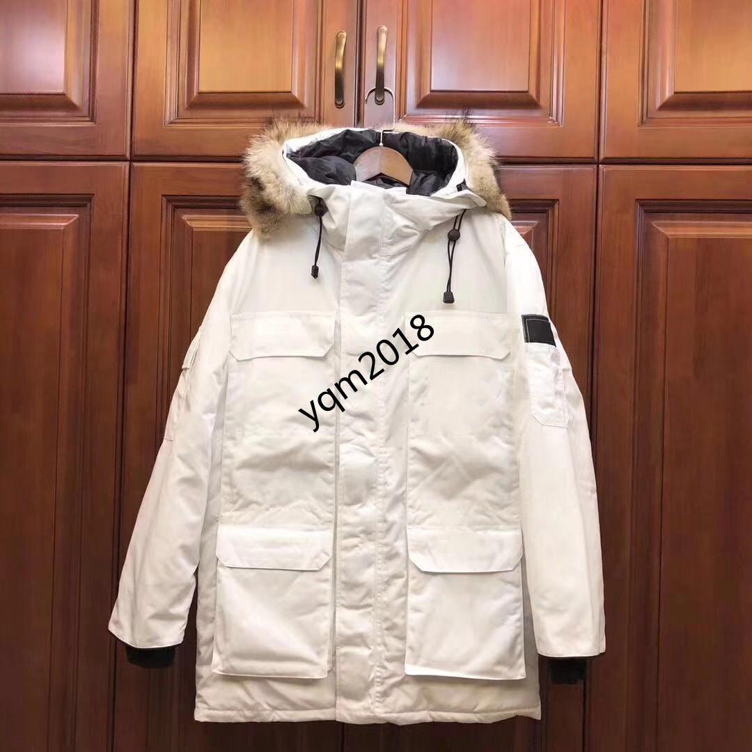 2021 Novo inverno masculino para baixo jaqueta para baixo parka pano impermeável com colarinho de pele quente elegante homens mulheres casal casaco atacado