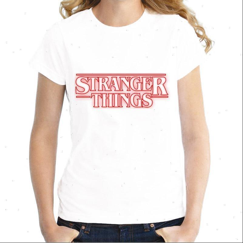 Funny TV Series Stranger Things T Shirt T Shirtty Blanco Impreso T Shirt Verano Alta Calidad Hipster Frestra Frena Tops Tops