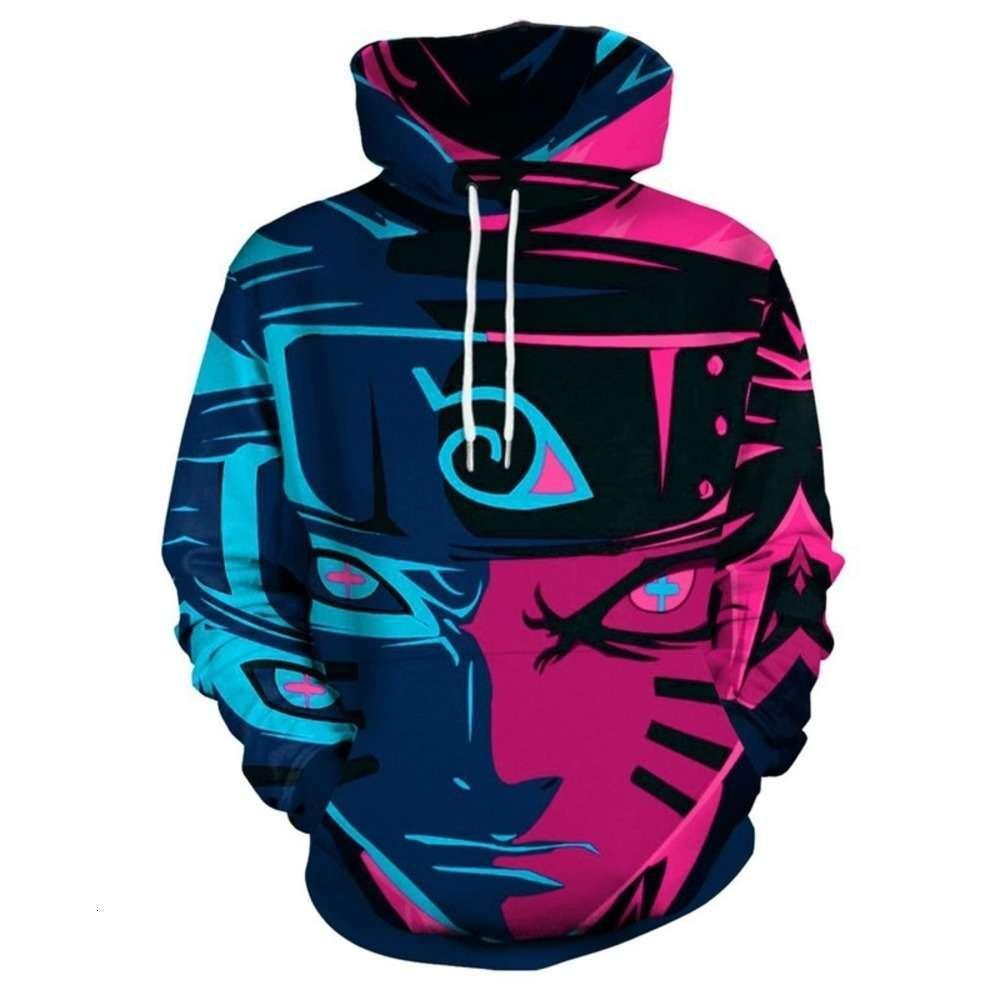 2021Fall And Winter New Naruto 3D Digital Printing Men's Sweater Loose Large Fashion Couple Hoodie For Men Sportswear BASEBALL SWEATSHIRT