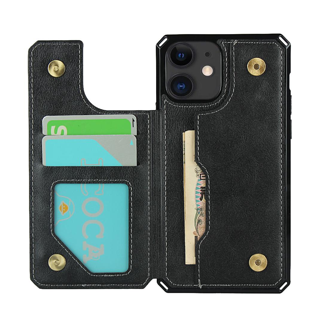 Para o iPhone 11 12 Pro Max Mini Samsung Note 20 10 S20 Fe Plus Ultra Google Pixel 5 4A 5G OnePlus 8T de couro à prova de choque Capa de telefone