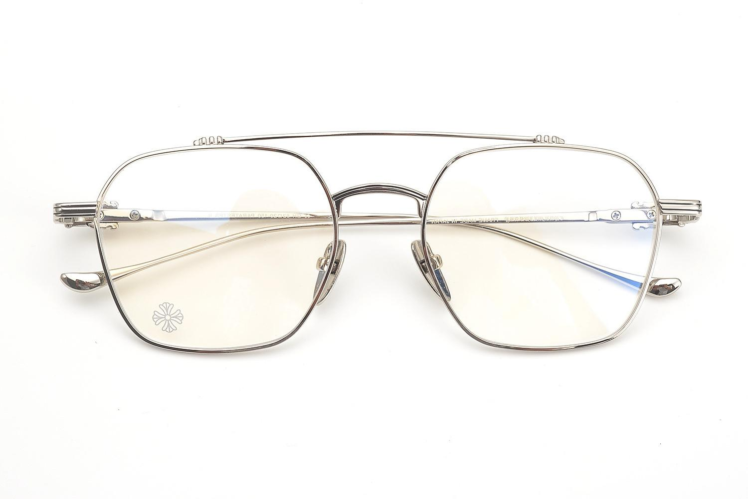 Crosing Glasses Frame Male Chen Weiting Same Flat Lens Large Face Myopia Female Personality Versatile