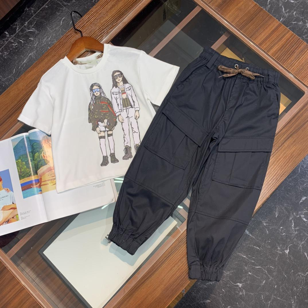 Designer Kinder T-shirts + Hosen 2pikte Sets Kinderkleidung Jungen T-shirts Kinder Hosen Jeans Baumwolle Tops
