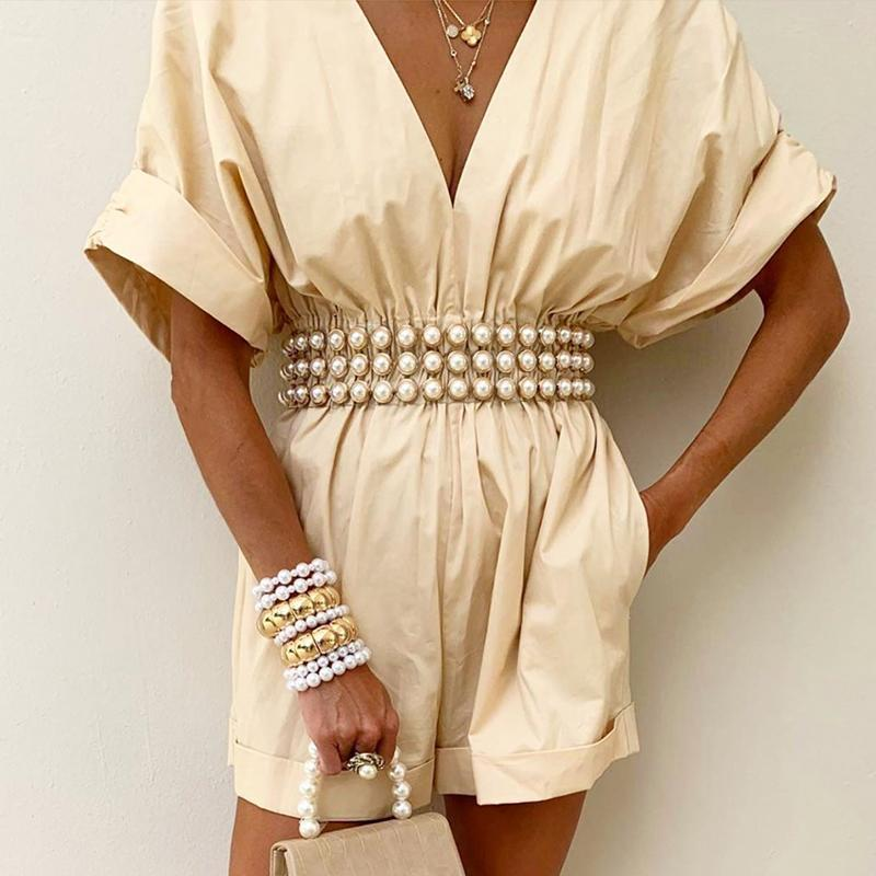 여성을위한 패션 라인 석 벨트 플러스 사이즈 허리 벨트 2021 명확한 투명 흰색 진주 벨트 Cinturon Mujer 플라스틱 다이아몬드