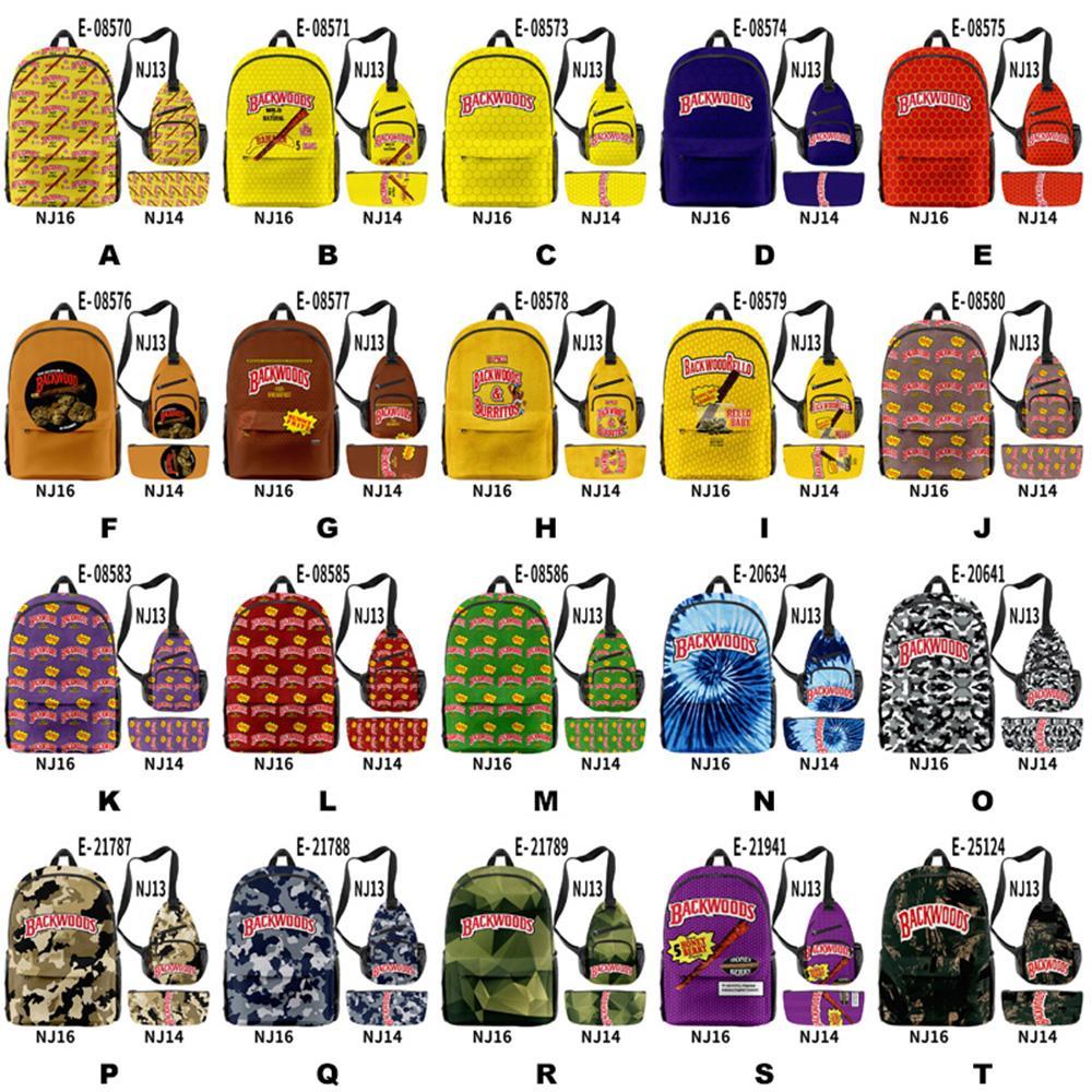 Bolsa de mochila de Backwoods para hombres Boys Portátil Portátil Hombro Travel School Bolsas 40 estilos opcionales