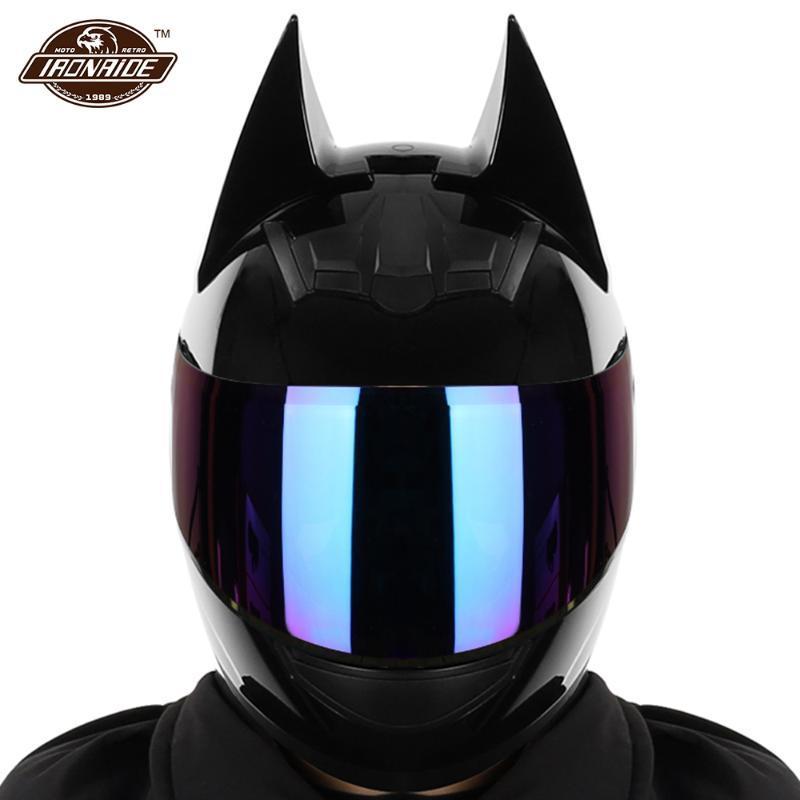Casques de moto Homme Hommes Casco Moto Dual Lens Motocross Capacete Capacete Full Face Accessoires avec coin