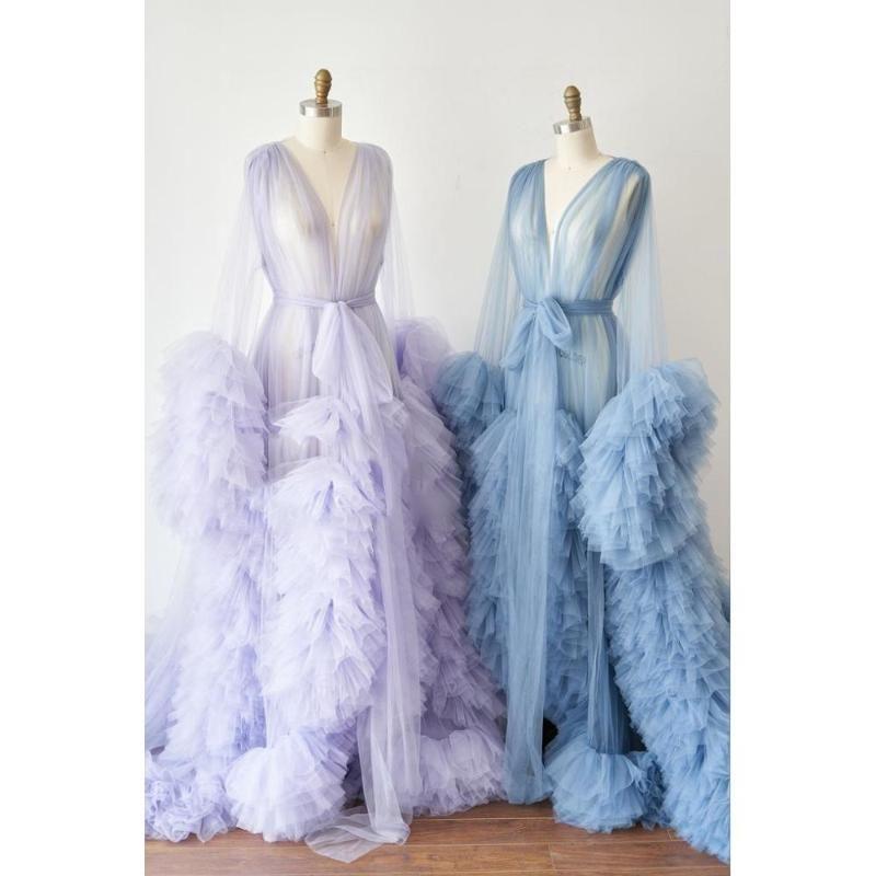 Robes décontractées robes gonflées vestido de fiesta rose rose pâle garçon à manches longues soir robe formelle robe de train robe