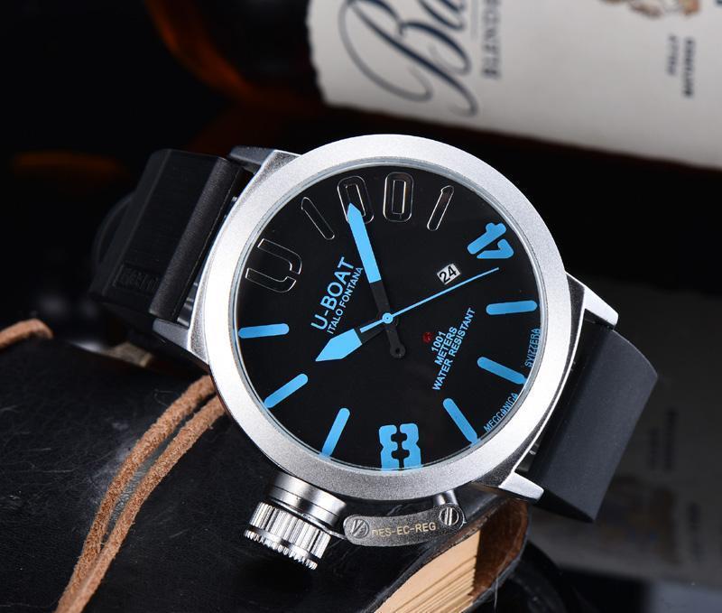 Wristwatches 2021 Men's Rubber Watchband Automatic Machinery Square Watches U Boat Wristwatch Luxury Watch