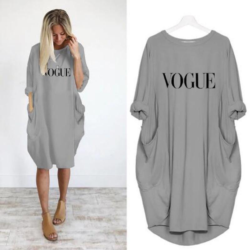 Kadın Artı Boyutu Günlük Elbiseler Yaz Kısa Kollu Ekip Boyun Mektubu Desen Bayan Giyim Moda Gevşek Bayan Giyim Elbiseler