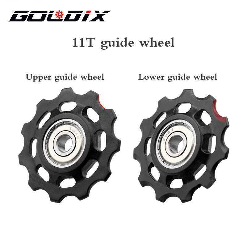 دراجة derailleurs goldix mtb دراجة بكرة عجلة النايلون الألياف 11T 12t الطريق الفارس الخلفي derailleur إصلاح كيت ل xx1 xx1 gx nx