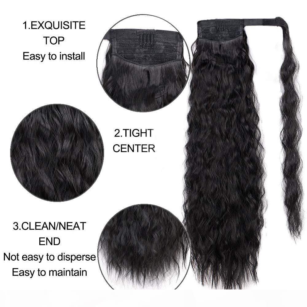 Wrap redstring afro kinky человеческий хвост для чернокожих женщин клип в волосы удлинение волос kinky кукурузы вьющиеся хвосты натуральные цветные пакеты хвоста