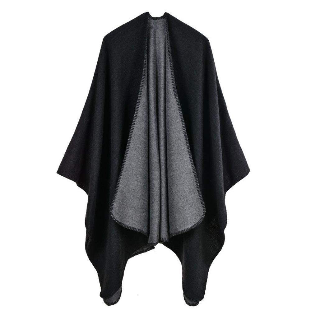 Cashmere like large split, men and women can use shawl, scarf, warm cloak, Cape, air conditioning blanket
