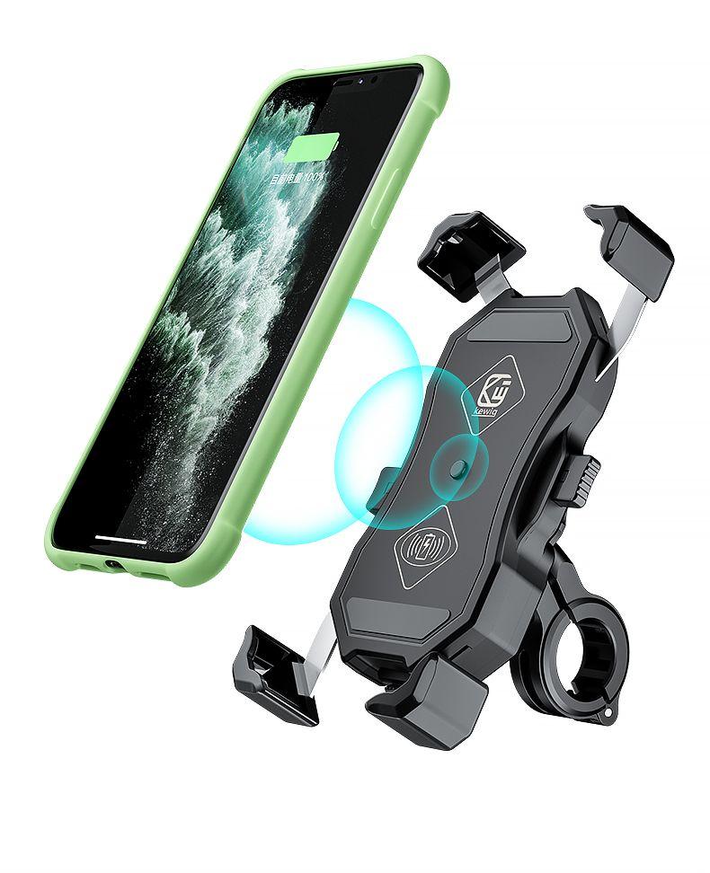 M11 Moto / Véhicule électrique / Vélo Téléphone Mountain + Qi Chargements sans fil Rechargeable Eagle Griffe Design Super Stable Universal Vue arrière Miroir