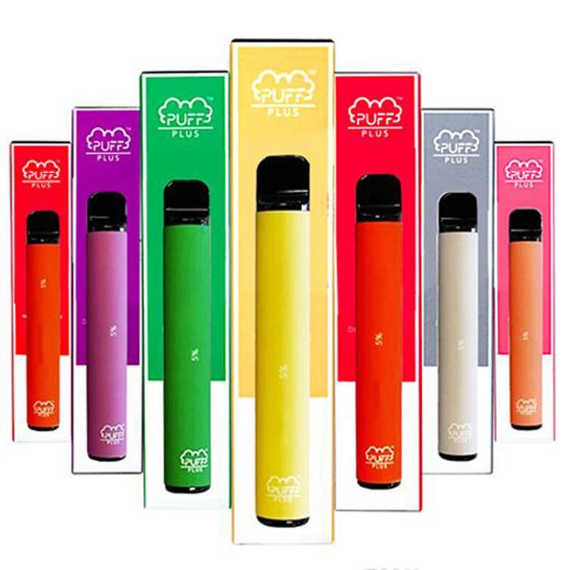 Puf Çubuğu Artı, Tek Kullanımlık Vapes Cihazı Pod Kiti 800 Puf Plus 3.2ml Kartuşları Vape Boş Kalem Vape Cart Ambalaj E Sigara