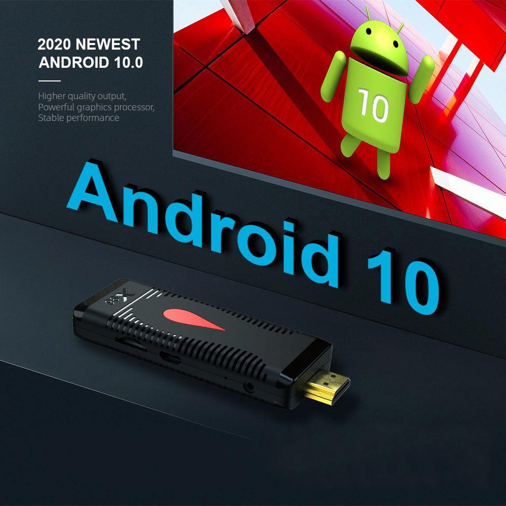 X96 S400 2 جيجابايت + 16 جيجابايت أندرويد 10.0 تلفزيون عصا allwinner H313 رباعية النواة 4K 60FPS 2.4G WIFI PK X96 T95