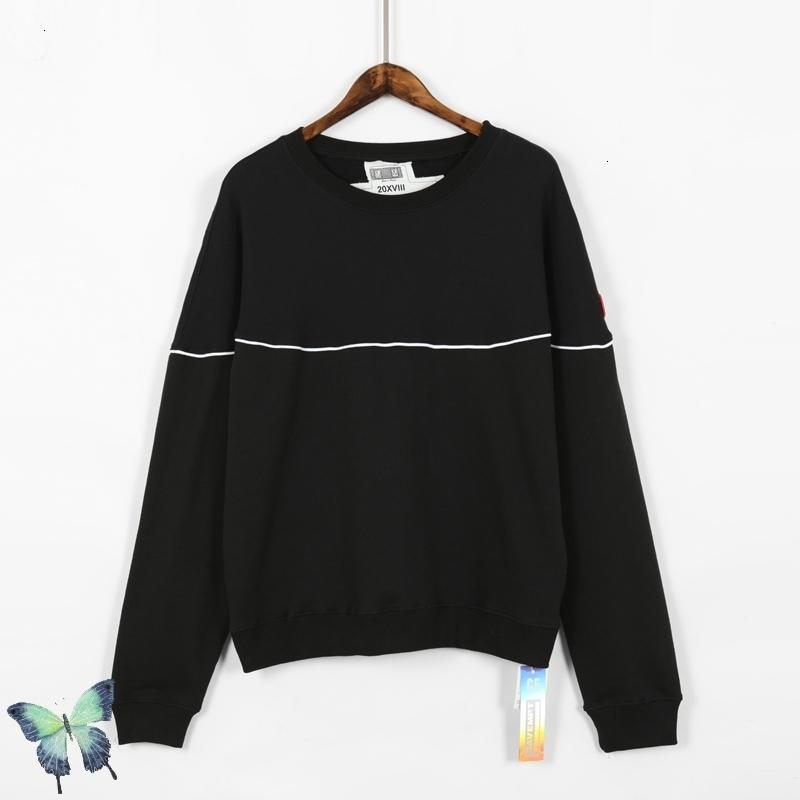 Beyaz 2021 Yeni Çizgi Siyah Samuray Kazak Erkek Kadın Yüksek Kalite Pamuk Cav Bahindi Streetwear Tişörtü 5HV9 3Z7N
