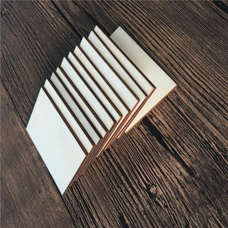 Originality Wood Chips Diy Blank Painting Square Rectangle Arts And Crafts Adult Children Decorate Wooden Slices Party Prop 0 23ty K2
