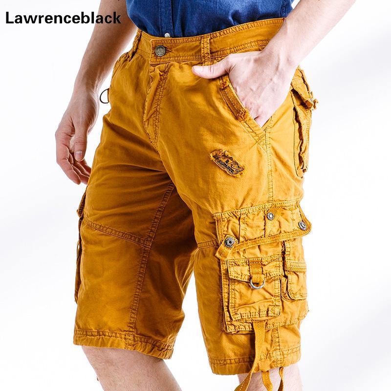 Herren Shorts Baumwollladung Große Größe Hohe Qualität 2021 Mode Männer Casual Work insgesamt Bermuda Camouflage 785