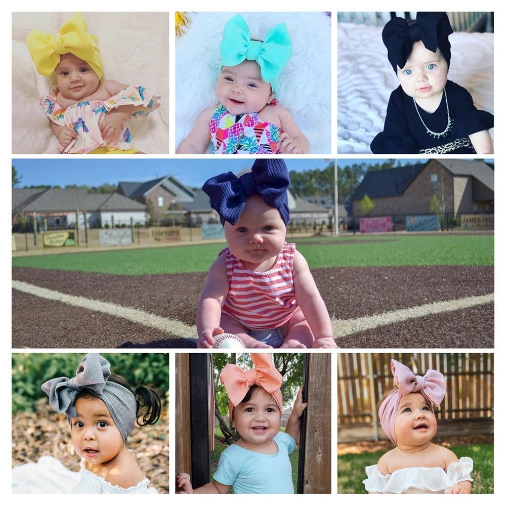 귀여운 아기 소녀 큰 활 머리띠 탄성 bowknot hairbands 모자 머리 밴드 신생아 터번