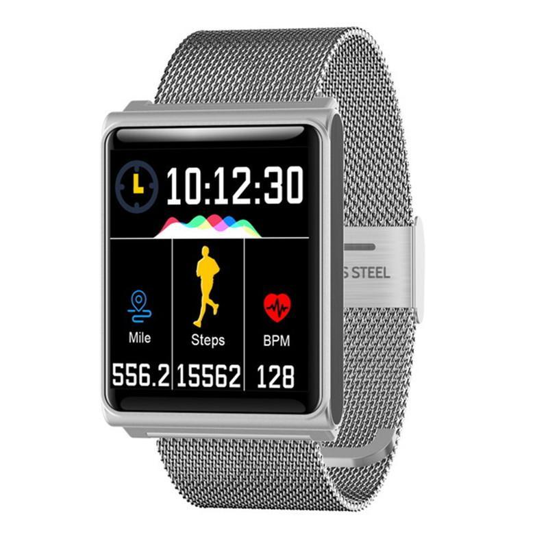 N98 Intelligente Uhr Blut-Sauerstoff-Blutdruck-Herzfrequenz-Monitor Smart Bracelet Fitness Tracker Smart Armbanduhr für Andorid-iPhone-Telefon