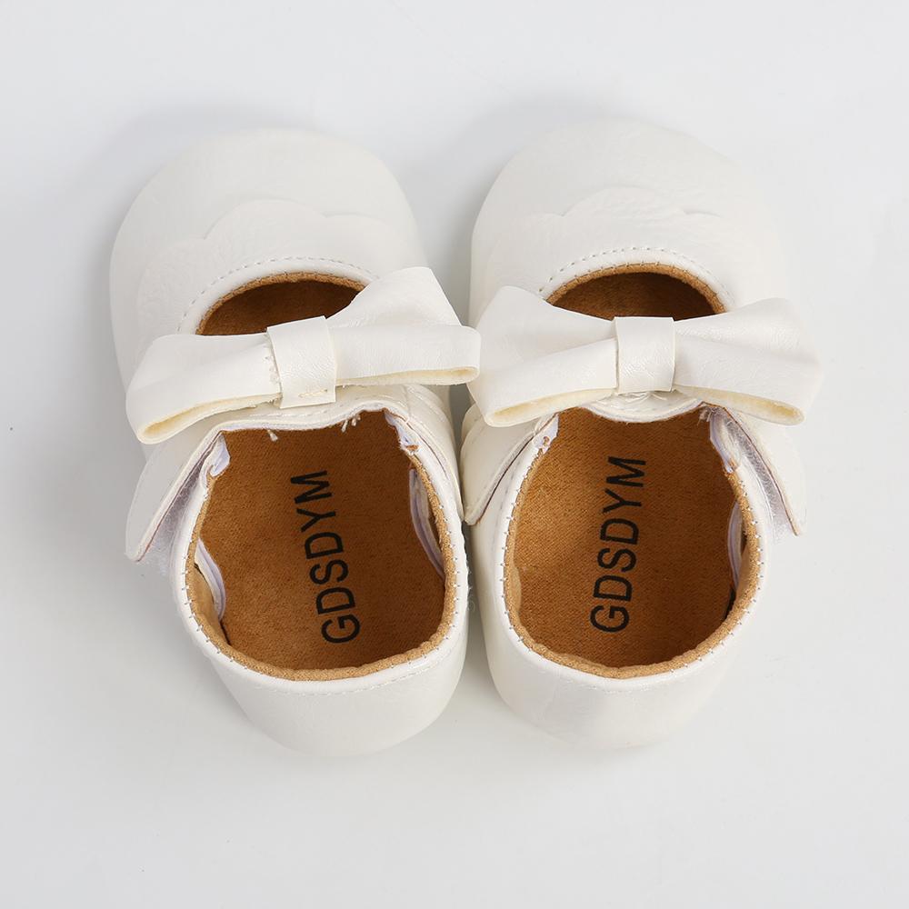 GDSDYM Baby First Walkers Girls Mary Jane Klänning Flat Skor Princess Bröllop Prewalker Spädbarn Nyfödda Crib Footwear