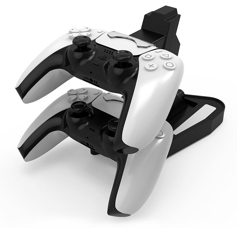 Für PlayStation 5 PS5 Game Controller Dual-Port-Ladedock-Stand-Station LED-Anzeige Ladegerät Speicherbasis Schnelles Laden mit Box
