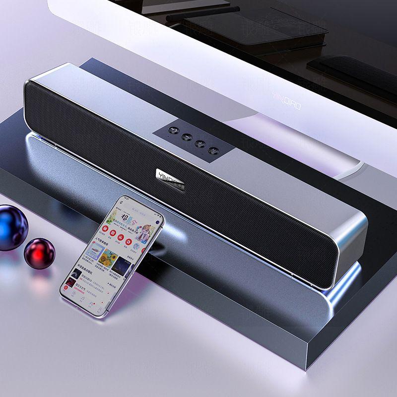 Bluetooth 5.0 Speaker para PC Home Theatre Subwoofer Estéreo com fio USB Smart Speakers FM Rádio Audio Computer Speaker Cartão de suporte