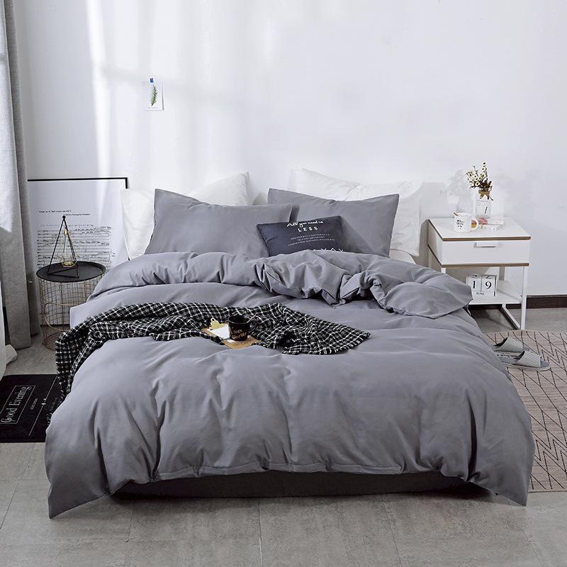 Bettwäsche-Sets 2021 Soild Color Luxury Set Twin King Queen Komfortables weiches Zuhause