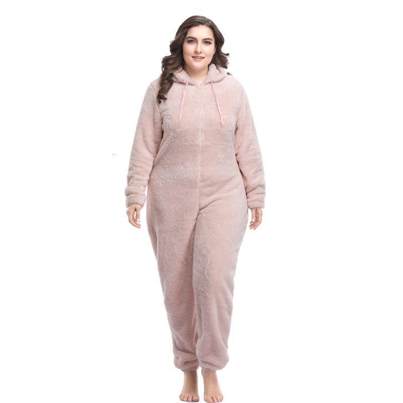 Talla más Teddy Pijama Conjuntos con capucha Kingurumi Cálido Onesie Pijamas Fleece Pijamas Kigurumi para mujeres adultos