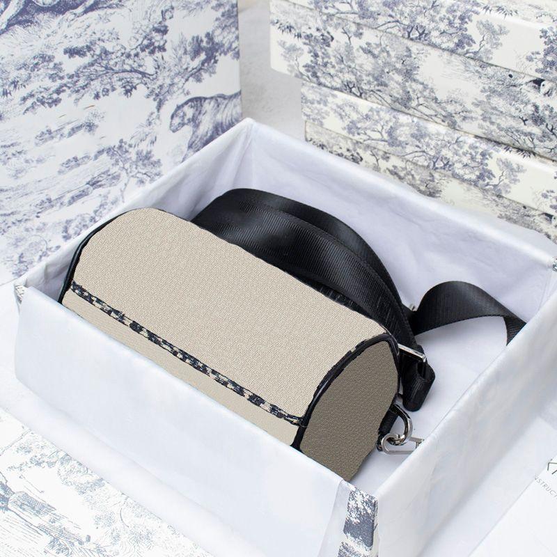 Moda Roller Messenger Bags oblicua Lienzo Impresión Palabras Diseñadores Bolsos Mens Crossbody Bolsa Bolsas negras Bolsas con caja