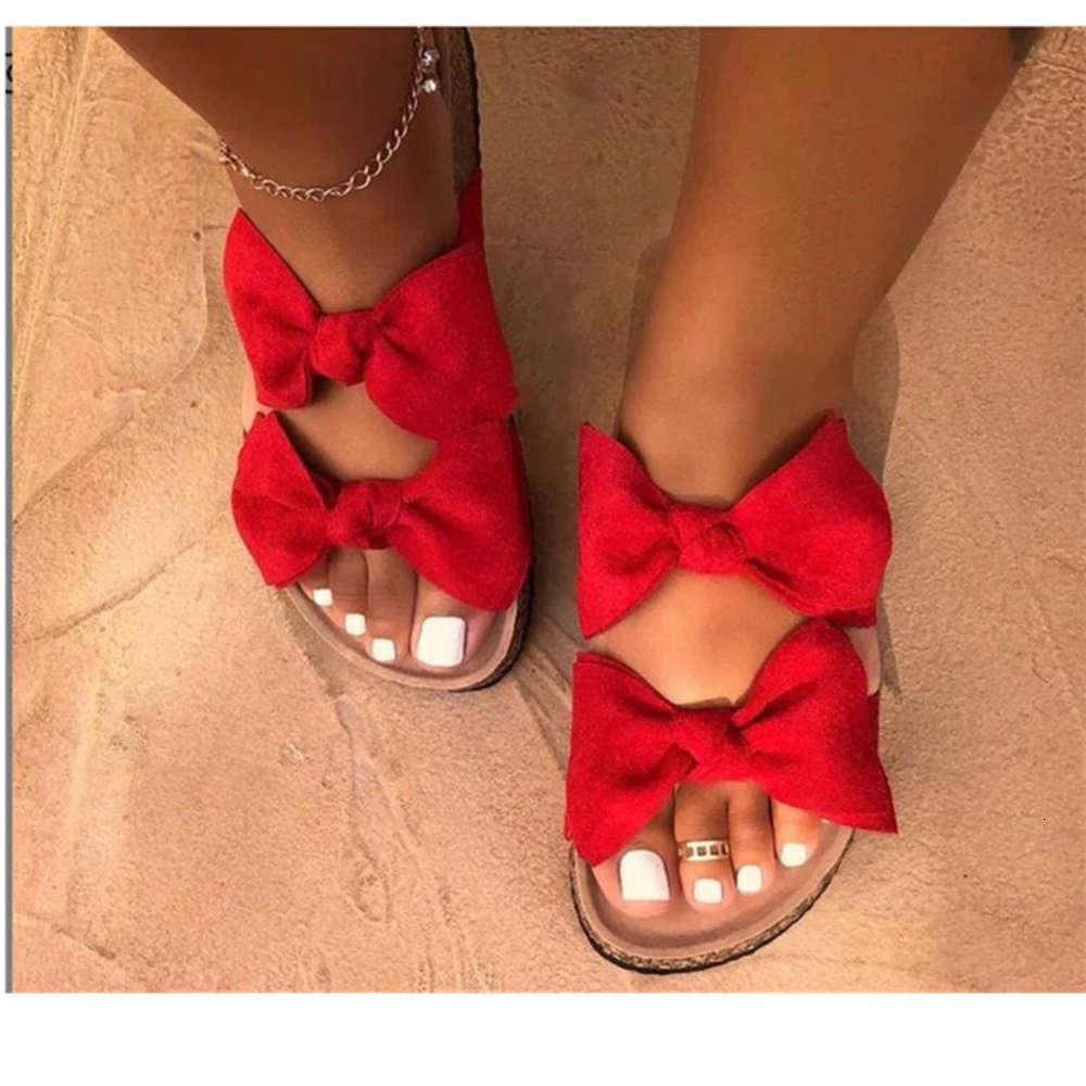 2019 yeni kadın ayakkabı sandalet ilmek düz terlik sandalet40-43