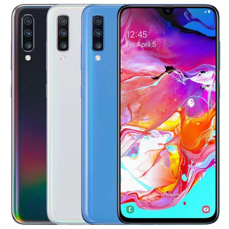 Original Refurbished Samsung Galaxy A70 A705FN/DS Dual SIM 6.7 inch Octa Core 6GB RAM 128GB ROM 32MP Unlocked Smart Cell Phone DHL 5pcs