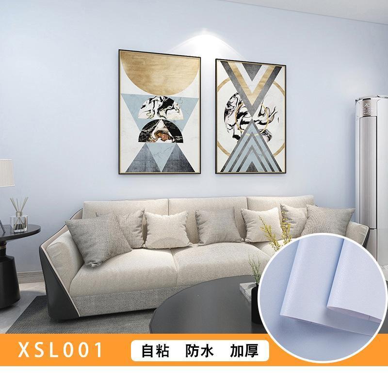 Duvar Kağıtları Duvar Kağıdı Modern Duvarlar için Kendinden Yapışkanlı Katı Renk Yatak Odası Ev Dekorasyon Arka Plan W8