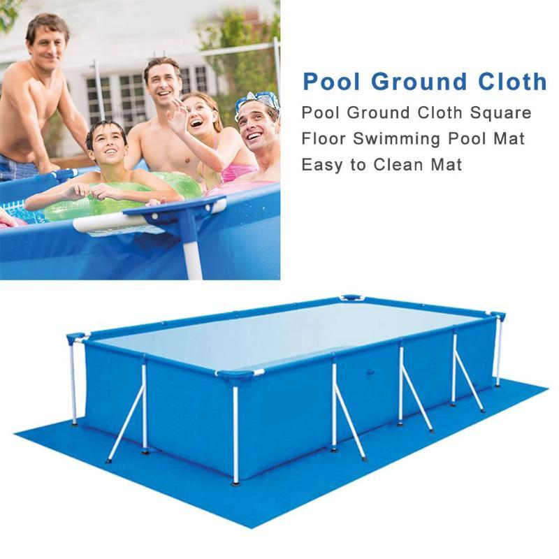 Shade Pool Ground Cloth Square Floor Swimming Mat Easy To Clean