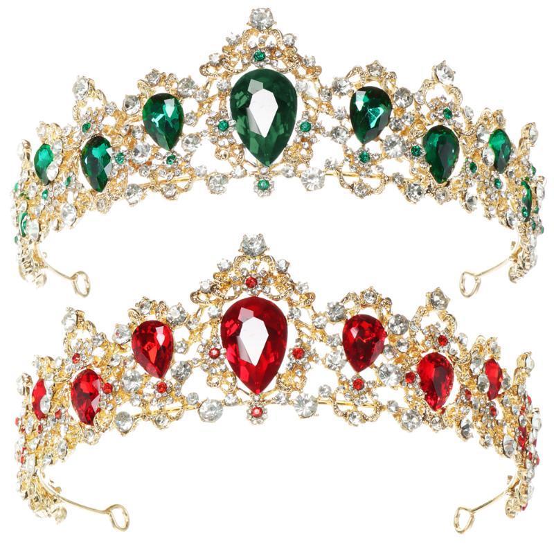 Haarklammern Barrettes Barock Vintage Strass Zubehör Tiara Crown Kristall Prinzessin für Frauen Mädchen Royal Queen