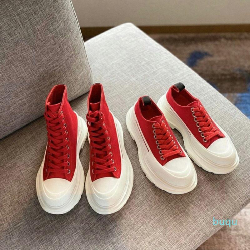 Tasarımcı-Kadınlar Boot Sırtı Slick Lace Up Botlar Klasik Bayan Kadın Moda Renkler Boy Sneaker Espadrille Yüksek Platformu