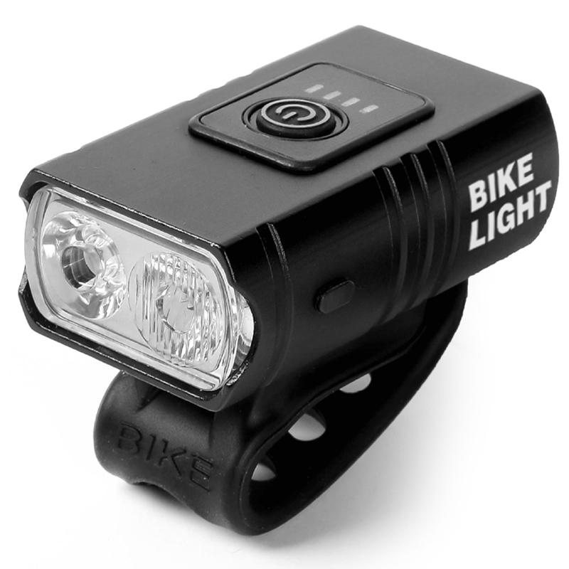 USB Rechargeable Bicycle Light Waterproof Bikes Front Lights With Power Display For MTB Road Bike Ultralight Flashlight