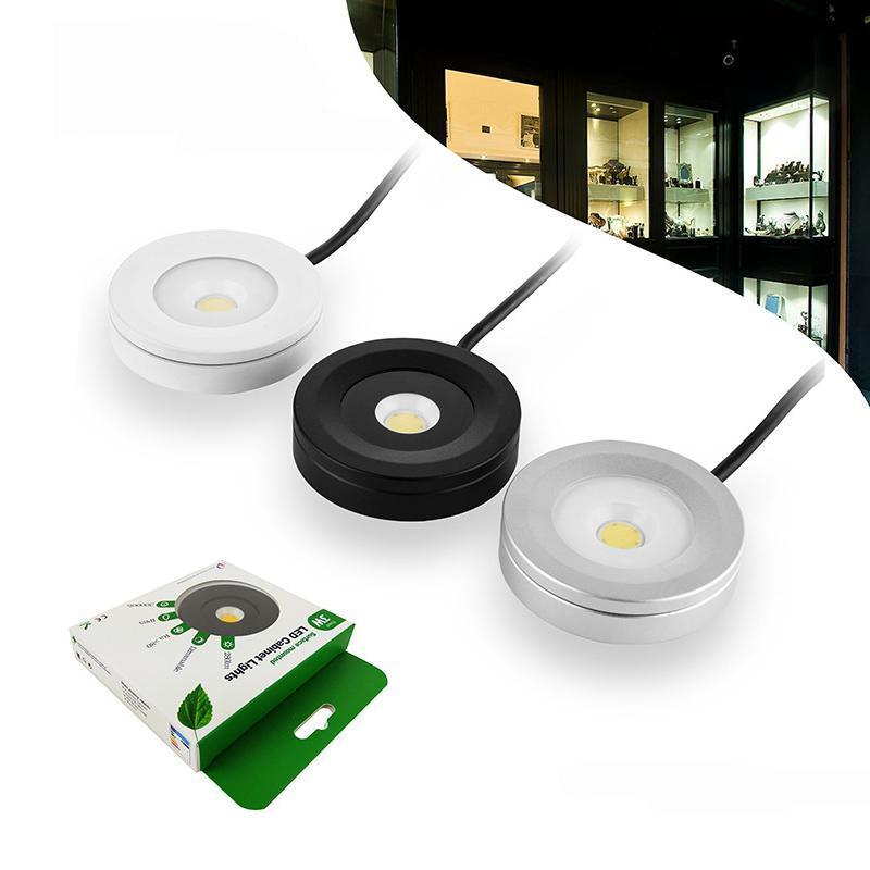 AC110V 220V Surface montée sous la lumière Cabinet Light 3W LED Lampes de pucks LED Spotlight pour la décoration de la maison Afficher le cas et la salle de KTV