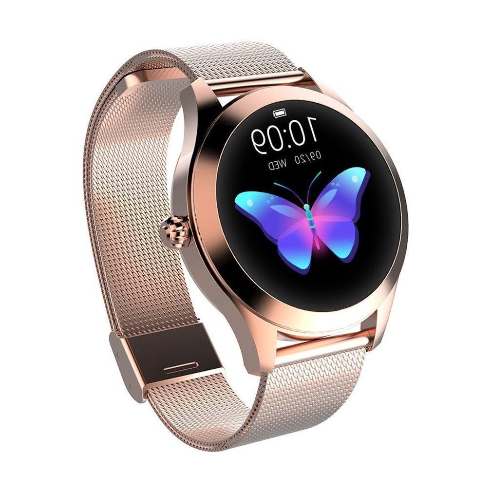 KW10 Smart Watch Mujeres IP68 Monitoreo de ritmo cardíaco impermeable Bluetooth para Android iOS Aptitud Pulsera SmartWatch