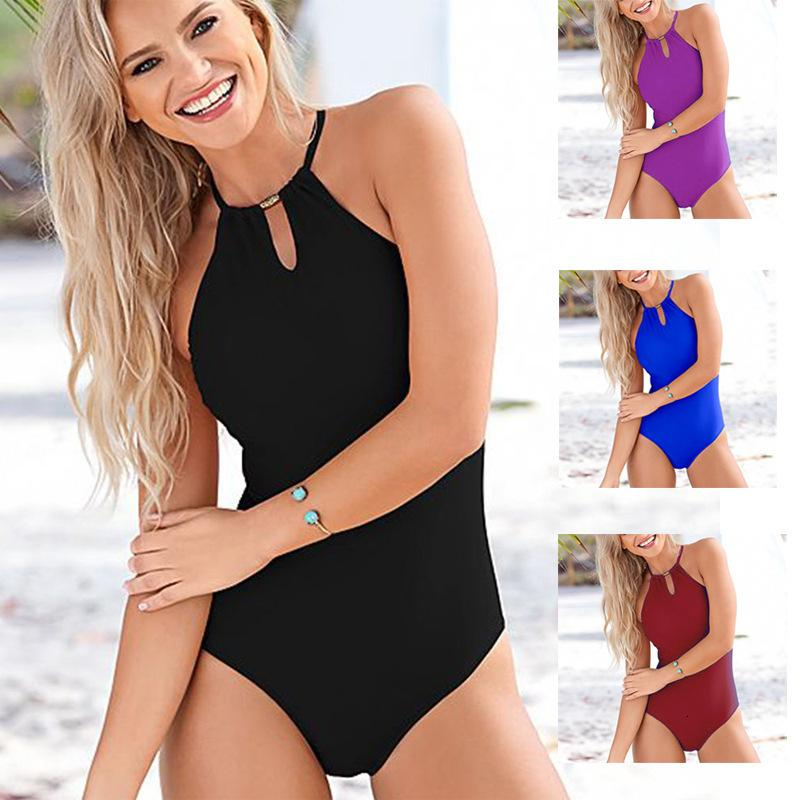 2021 Swimsuit da bagno solido sexy in un pezzo bikinib0as