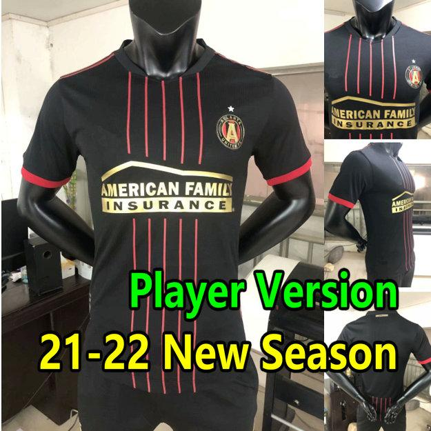 21 22 Atlanta United FC Soccer Jersey لاعب نسخة مورينو مارتينيز باركو روبنسون قمصان كرة القدم فيلالبا 2021 2022 الرجال الاطفال مجموعة مايلوتس