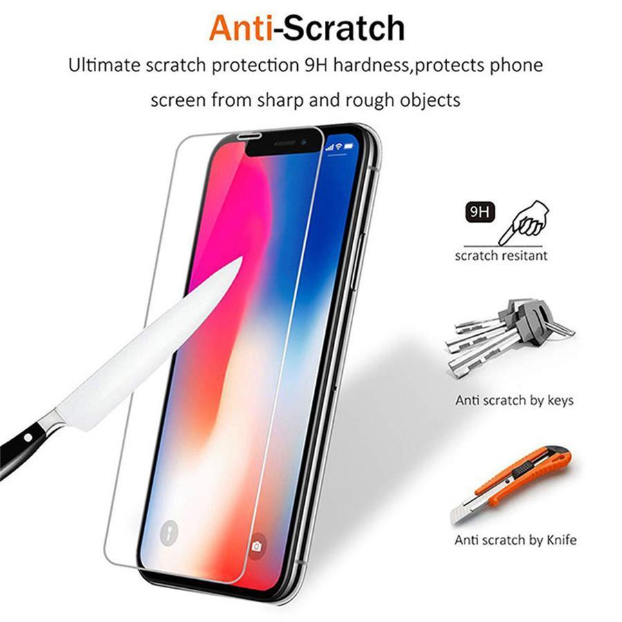 (2 пакета) / 1 лоток экрана защитник для iPhone 13 12 11 Pro Max XS XR X 7 8 плюс 6 6S мини закалерный стеклянный протектор фильма 0,33 мм с коробкой
